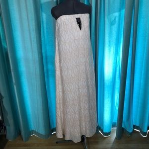 NWT INDAH Sail Nude Wings Strapless Maxi Dress S/M